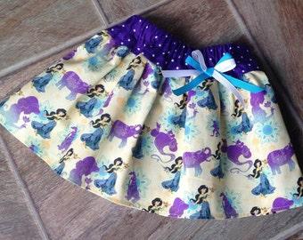 Princess Jasmine, Jasmine, Jasmine Skirt, Princess Jasmine Party, Jasmine Birthday, Jasmine Birthday Outfit, Jasmine Costume, Handmade