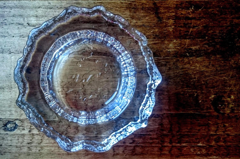 vintage iittala tapio wirkkala aslak map of europe glass bowl. Black Bedroom Furniture Sets. Home Design Ideas