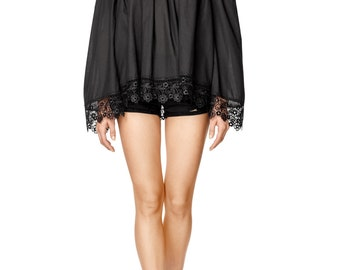 SALE Black Off the shoulder Top, Lace Top with Off Shoulder Wide Sleeves by ILMNE