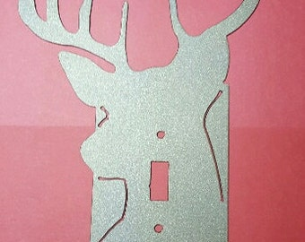 Switch plate cover - deer head
