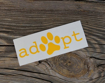 Adopt Decal - Dog Decal - Adopt Don't Shop