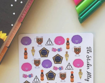 32 Wizard World Stickers || Perfect for Erin Condren Life Planners, Planning and Scrapbooking