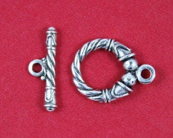 SALE!! 9/3 MADE in EUROPE 20mm toggle clasp, silver toggle clasp (X2762ABAS)Qty1