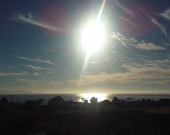 Sunset oceanscape print