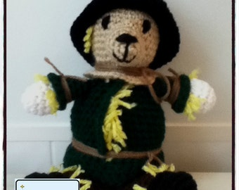 PDF Pattern for Crochet Amigurumi Scarecrow Bear
