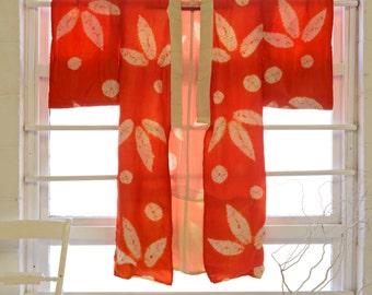 Shibori Leaf Kimono