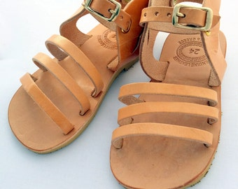 Hermes design kids Sandals, handmade Greek Children Sandals, Girl Hermes Kids sandals, leather sandals for kids, hermes sandals