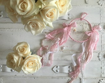 Pretty Pink Shabby Chic Dream Catcher
