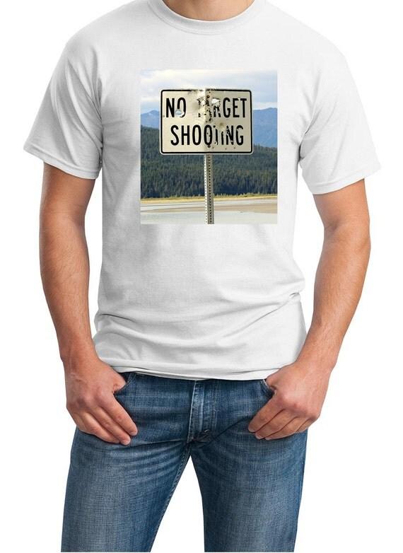 No Target Shooting (Sign in Alaska) Mens White T-shirt