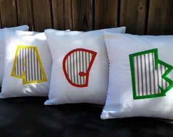 Super Hero Letter Pillows