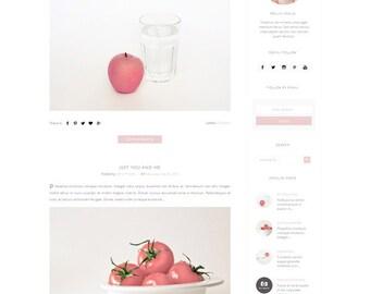 Modern Responsive Blogger Template - Premade Template - Clean Minimalist Design -  Pastel Blog Design - Fashion Blog -Blogspot