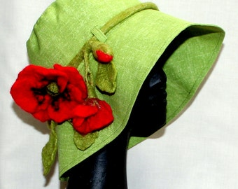 Women's hat with Mohn
