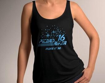 Star Trek Inspired Picard Riker 2016 Women's Tank Top