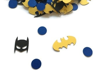 Batman Birthday - Batman Confetti - Batman Party - Batman Baby Shower - Batman Party Decoration - Superhero Birthday Party