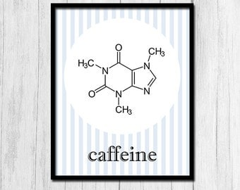 Gift for Coworker, Caffeine Art, Instant Download, Coworker Gift Kitchen Printables Christmas Gift for Coworkers Wall Decor Digital Download