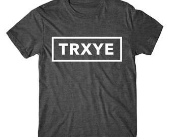 Trxye, Womens Tee, Womens Graphic Tshirt, Womens Graphic Tees, Metallic Gold, Silver, Glitter And Neon Print