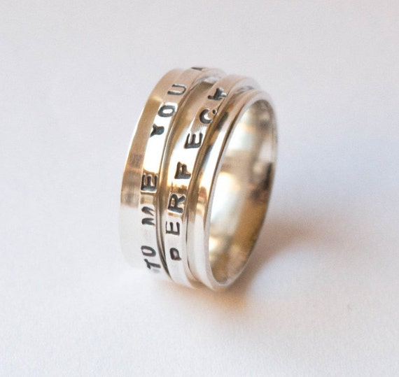 Personalized Spinner Rings