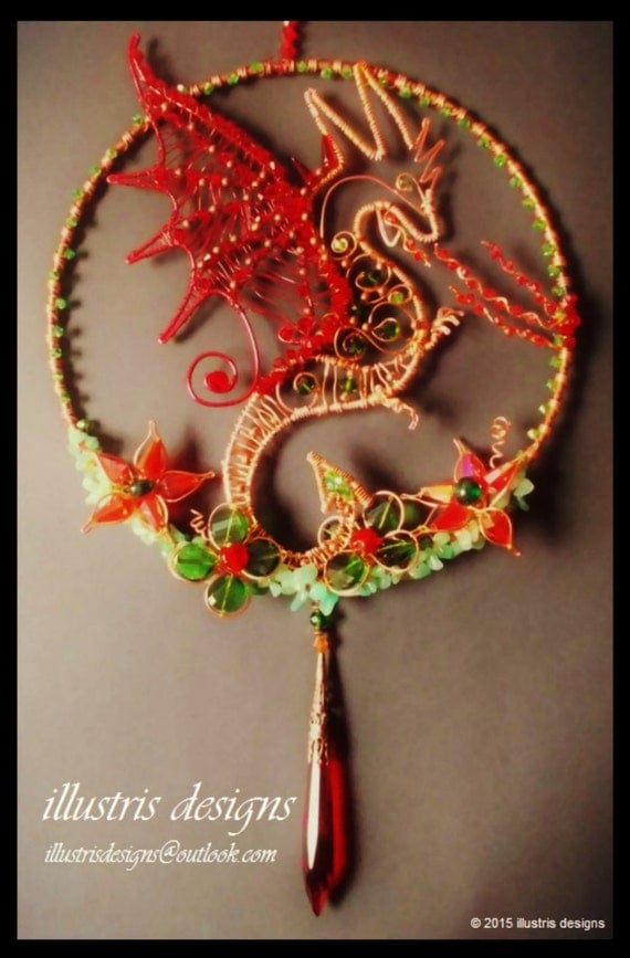 Dragon suncatcher,Rising Phoenix candle holder