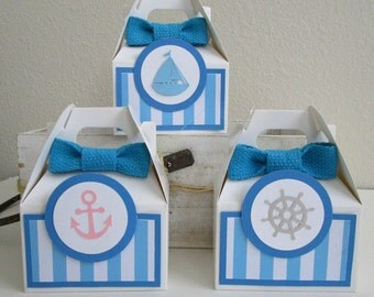 Nautical Favor Boxes, Favor Boxes, Sailboat Favor Boxes, Birthday Favor Boxes, Nautical Party Favors, Seaside Favor Boxes, Nautical Boxes.