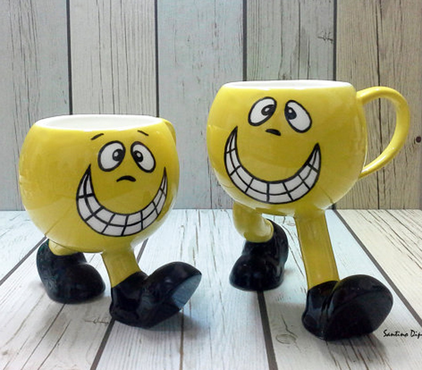 Smiley Face Coffee Mug Emoji Mug Set Pair Of Funny Smiley Face Cups Novelty Mug