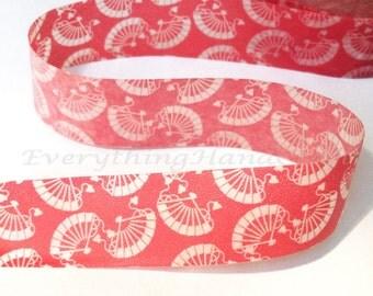 Red Fan Washi Tape / Masking Tape / Adhesive Tape / Decorative Scrapbooking Stationery 10m f14