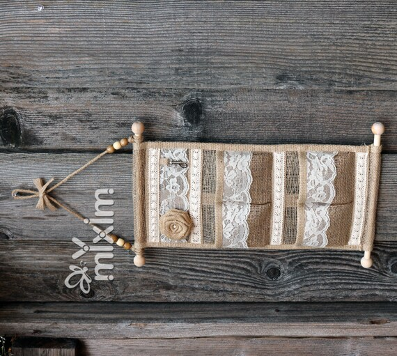 Rustic Burlap Wall Decor : Rustic wall decorlace and burlap hanging
