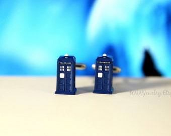 3D Tardis Doctor Who Cufflinks Mens Dalek Cuff links Movie Novelty Fathers Day Anniversary Wedding Jewelry Groomsman Gifts for him