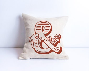 Ampersand print Ampersand pillow Ampersand print Ampersand pillow covers Ampersand sign Ampersand wall art