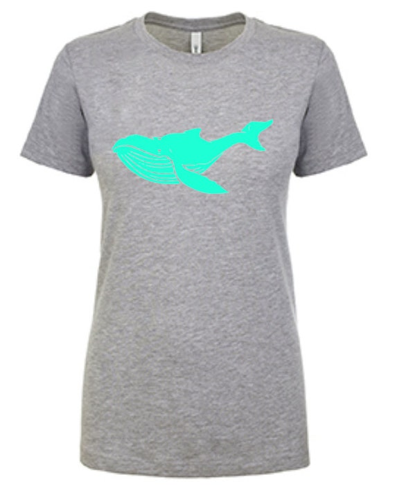 Save the whales   Ladies Tee with whale graphic   Sea Lover   Whale   Sea Creature   Super Soft   Graphic Tee   T-shirt
