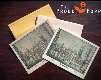 The Ahwahnee Yosemite National Park Collectors Anniversary Edition Note Cards & Envelopes 1927-1977