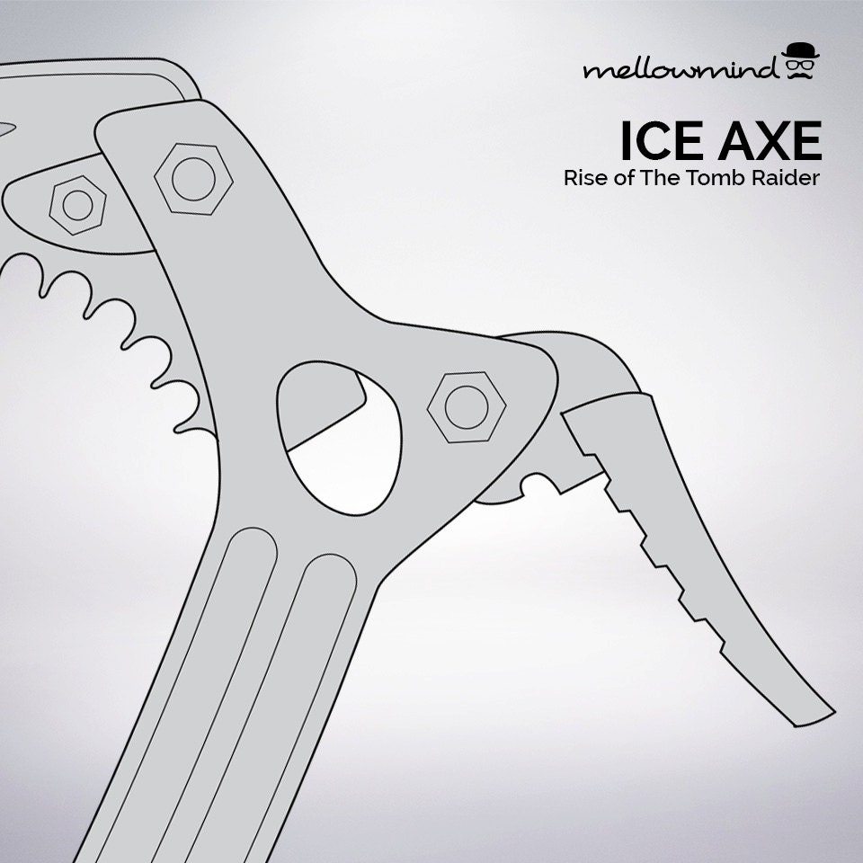 w2 template 2013 - tomb raider ice axe blueprint 1 1 scale