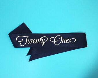Twenty One Sash