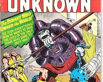 Challengers of the Unknown 49, Vintage Outer Space comic book, sci-fi, Astronauts. 1966 DC Comics in FNVF (7.0)