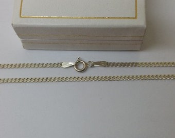 45 cm / 2.3 mm curb chain 925 Silver necklace HK146