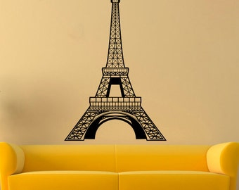 Eiffel Tower Vinyl Sticker Paris Tower Wall Decal Paris Decals Wall Vinyl Decor /3hmy/