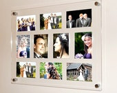 Clear Black white  red Acrylic large high gloss magnetic wall mount picture multi frame for 10 x 7x5 photos frame size 29x24