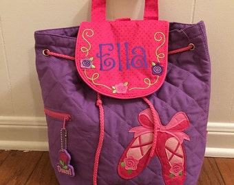 Personalized Stephen Joseph Quilted Backpack- Ballet/ Dance