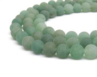 Green Aventurine, Matte Beads, 8mm Beads, Green Aventurine Beads, Frosted Beads, Frosted Green, Light Green, Light Green Beads, 6mm Beads