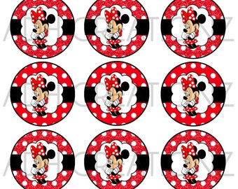 Minnie Mouse DIGITAL bottle cap images
