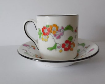 Vintage 1930s English China Coffee cup and saucer  FREE UK POSTAGE