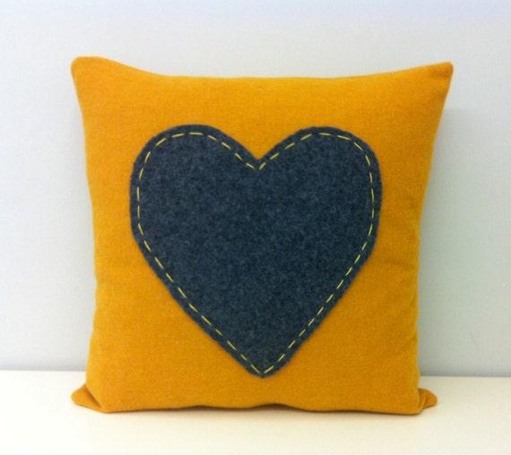 mustard yellow wool pillow cover mustard pillows by artdecopillow. Black Bedroom Furniture Sets. Home Design Ideas