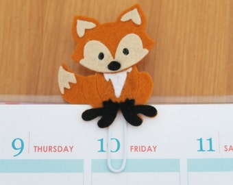 Woodland Fox Planner Clip