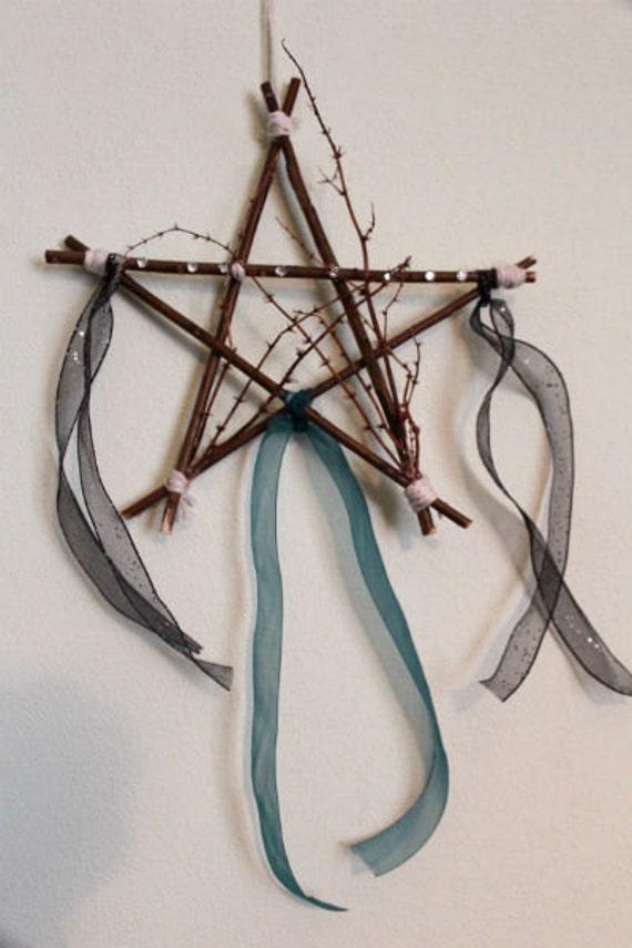 Wood Pentagram Wiccan Home Decor Pagan Decoration