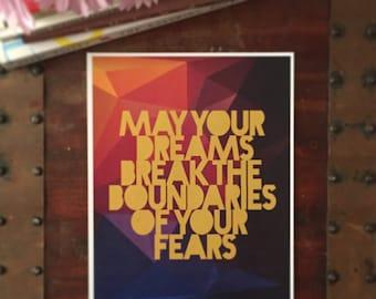 May Your Dreams Print