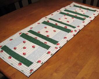 Strawberry Themed Table Runner