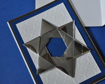 Set of 7 Origami Hanukkah Cards (Blank Inside)