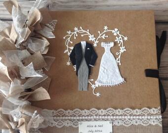 Personalised Wedding Album/ Guestbook/Photo Album/ Scrapbook.