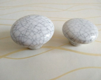 Kitchen Cabinet Knobs / Dresser Drawer Pulls Knob Handles / White Ceramic  Knobs / Drawer Knobs