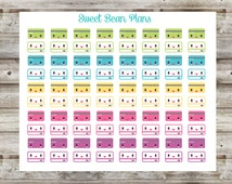 80 Colorful Kawaii Credit Card Planner Stickers