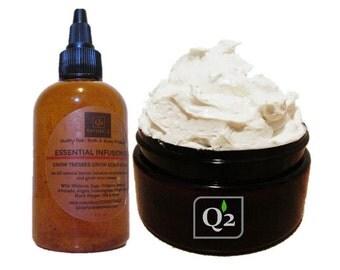 FREE SHIPPING! Grow Kinky Curly Bundle|Hair Growth-Whipped Hair Butter-Hair Oil-Hot Oil Treatment-Natural Hair Kit-Summer Natural Hair Care